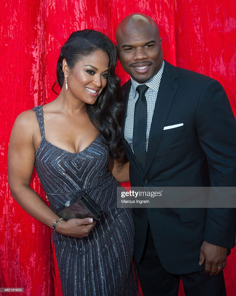 Laila Ali and husband Curtis Conway attend the 23rd Annual Trumpet Awards at Cobb Energy Performing Arts Center on January 24 2015 in Atlanta Georgia
