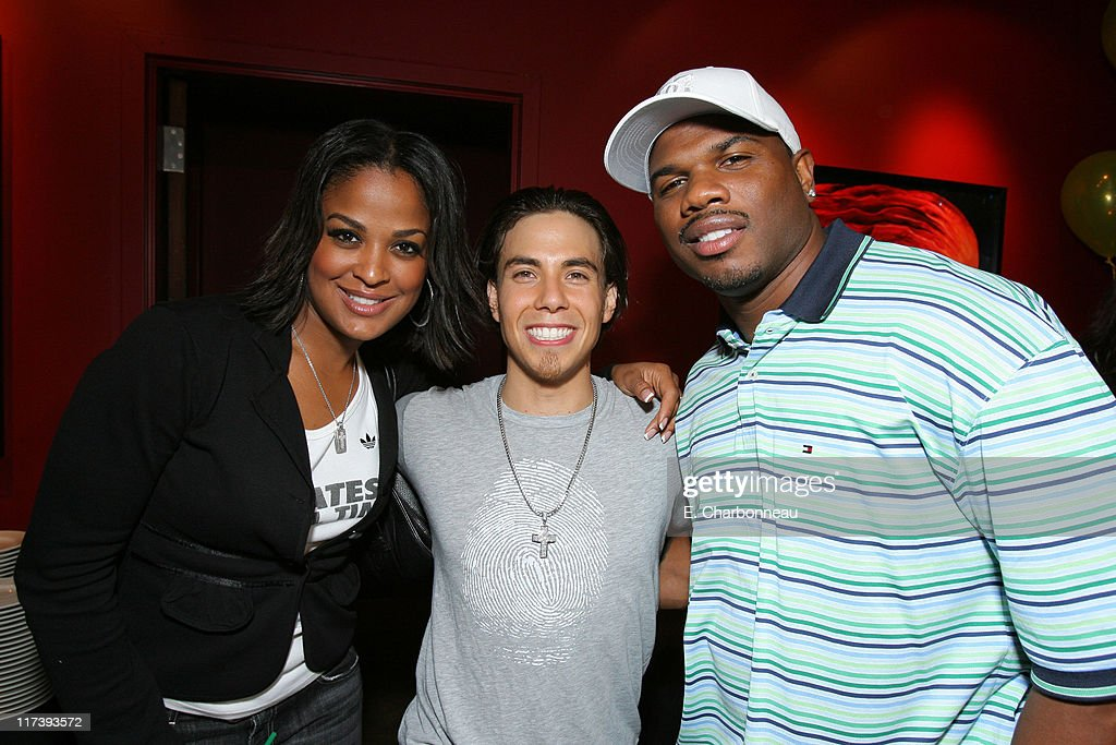 Laila Ali Apolo Ohno and Curtis Conway *Exclusive Coverage*