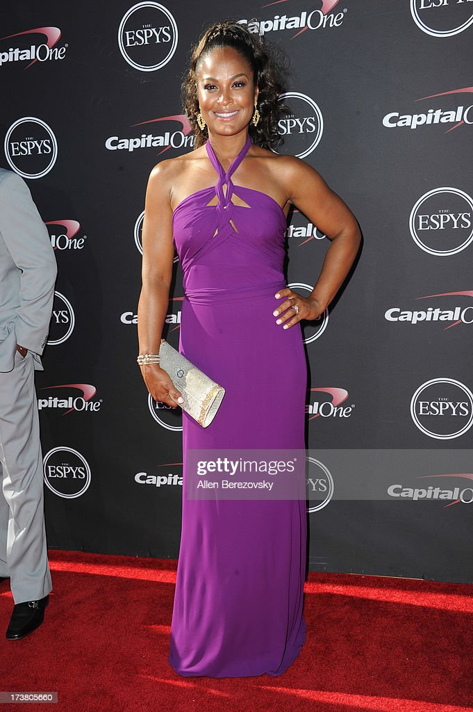 Laila Ali arrives at the 2013 ESPY Awards at Nokia Theatre L.A. Live on July 17, 2013 in Los Angeles, California.