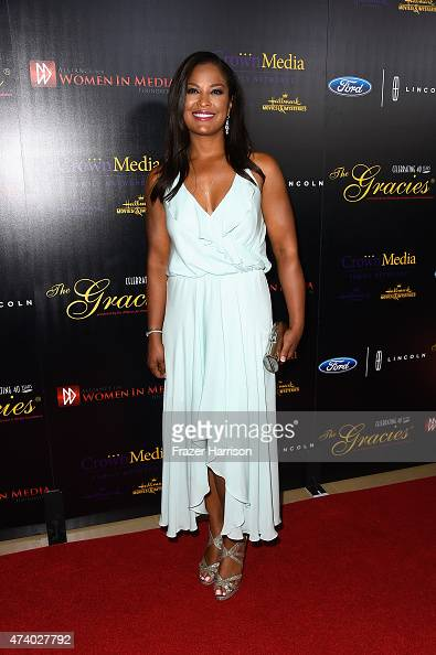 Laila Ali arrives at the 40th Anniversary Gracies Awards at The Beverly Hilton Hotel on May 19 2015 in Beverly Hills California