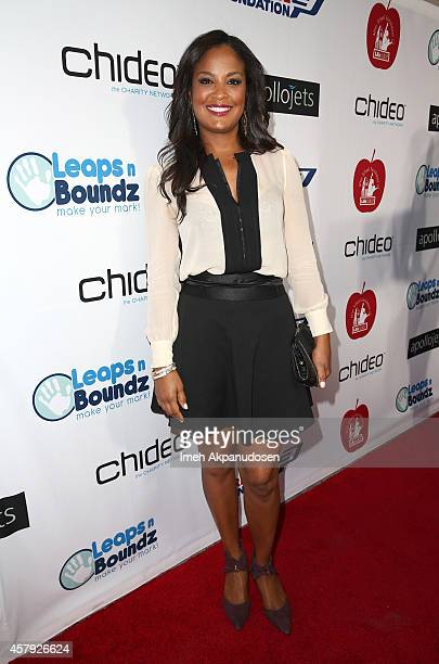 Laila Ali arrives for The CP3 Foundation's Celebrity Server Dinner presented by Apollo Jets at Mastro's Steakhouse on October 26 2014 in Beverly...