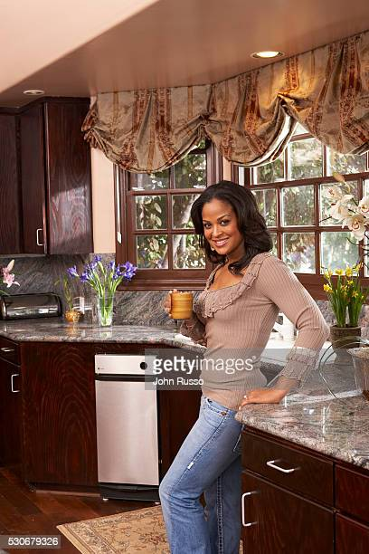 Laila Ali at Home