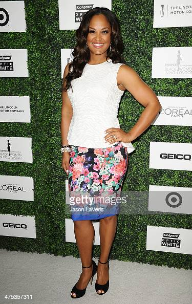 Laila Ali attends the 7th annual ESSENCE Black Women In Hollywood luncheon at Beverly Hills Hotel on February 27 2014 in Beverly Hills California