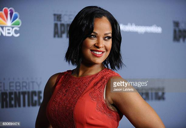 Laila Ali attends the press junket For NBC's 'Celebrity Apprentice' at The Fairmont Miramar Hotel Bungalows on January 28 2016 in Santa Monica...