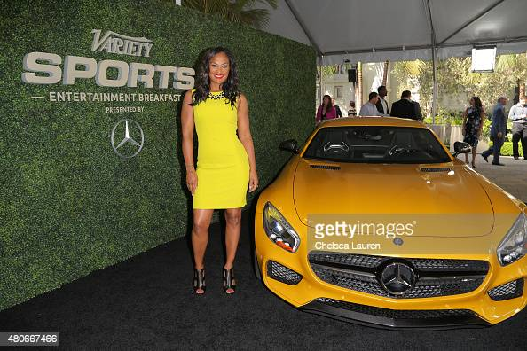 Laila Ali attends the Variety's Sports Entertainment Breakfast presented by MercedesBenz at Vibiana on July 14 2015 in Los Angeles California