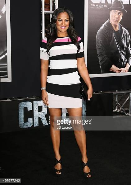 Laila Ali attends Warner Bros Pictures' 'Creed' premiere at Regency Village Theatre on November 19 2015 in Westwood California