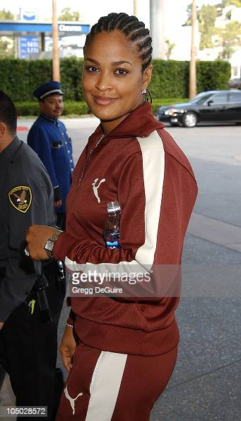 Laila Ali during 2003 National Cable Telecommunications Assn Press Tour Day Two at Renaissance Hotel in Hollywood California United States