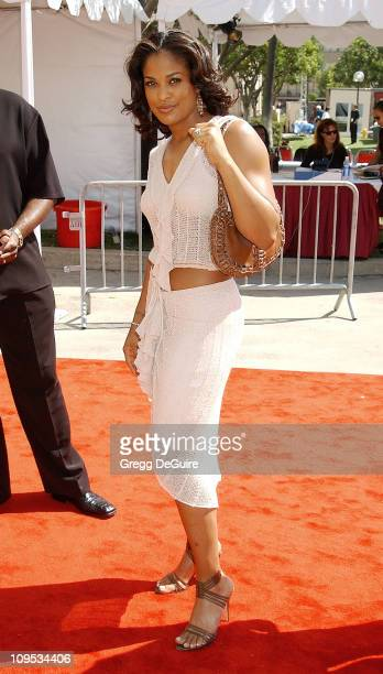 Laila Ali during The 8th Annual Soul Train 'Lady Of Soul' Awards Arrivals at Pasadena Civic Auditorium in Pasadena California United States