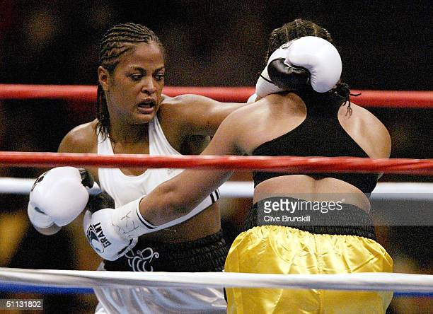 Laila Ali fights Monica Nunez July 30 2004 at Freedom Hall in Louisville Kentucky