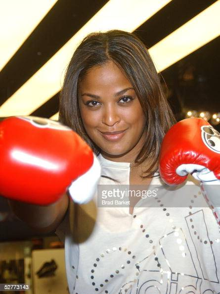 Laila Ali poses for a picture at the Adidas Performance Store on May 7 2005 in New York City
