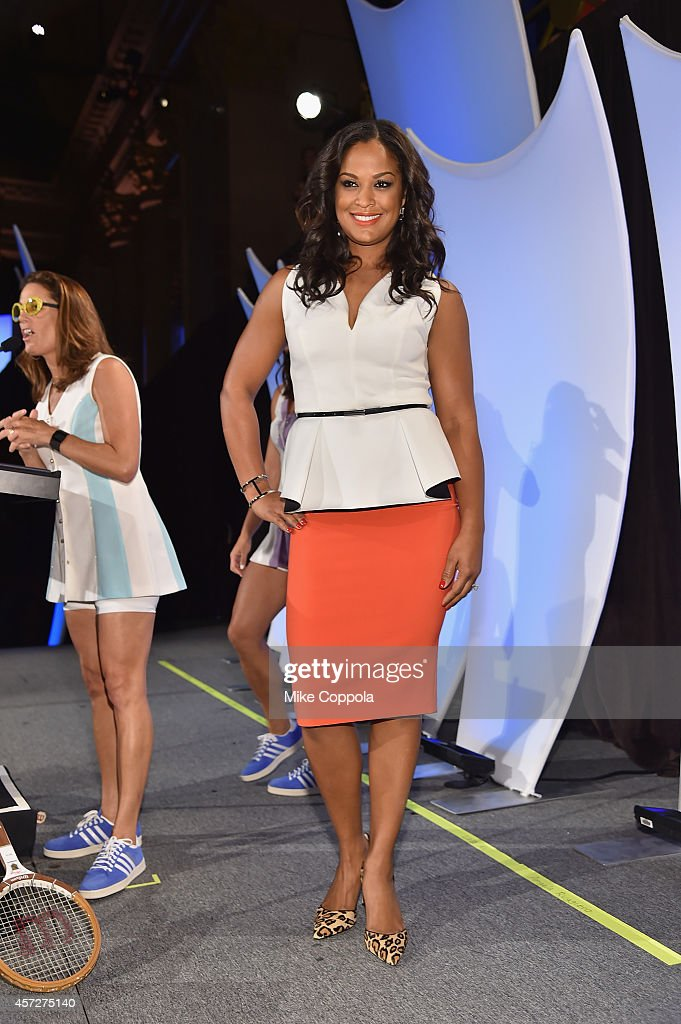 Laila Ali poses onstage during the Women's Sports Foundation's 35th Annual Salute to Women In Sports awards, a celebration and a fundraiser to ensure more girls and women have access to sports at Cipriani Wall Street on October 15, 2014 in New York City.
