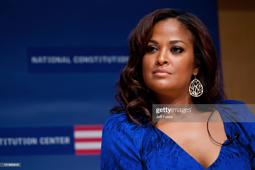 <a gi-track='captionPersonalityLinkClicked' href=/galleries/search?phrase=Laila+Ali+-+Boxer&family=editorial&specificpeople=204687 ng-click='$event.stopPropagation()'>Laila Ali</a> takes part in a panel discussion prior to the 2012 Liberty Medal Ceremony at the National Constitution Center on September 13, 2012 in Philadelphia, Pennsylvania.