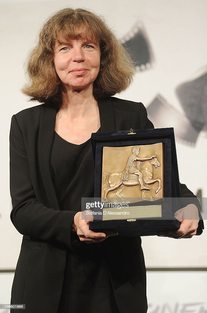 Laila Pakalnina poses with her Special Jury Prize - CinemaXXi for feature-length film during the Award Winners Photocall during the Award Winners Photocall on November 17, 2012 in Rome, Italy.