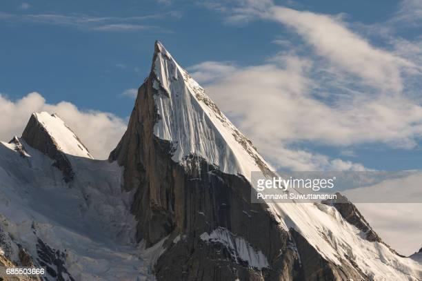 Laila peak, iconic peak at Khuspang camp, K2 trek, Skardu, Gilgit Baltistan, Pakistan
