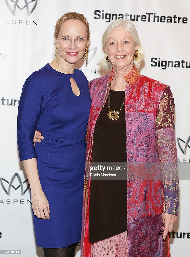 Laila Robbins (L) and <a gi-track='captionPersonalityLinkClicked' href=/galleries/search?phrase=Jane+Alexander+-+American+Actress&family=editorial&specificpeople=678153 ng-click='$event.stopPropagation()'>Jane Alexander</a> attend the 'Old Hats' Opening Night at Signature Theatre Company's The Pershing Square Signature Center on March 4, 2013 in New York City.