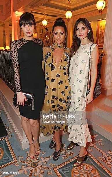 Lailah Parsons Roxie Nafousi and Doina Ciobanu attend The Lanesborough Hotel relaunch party on November 25 2015 in London England