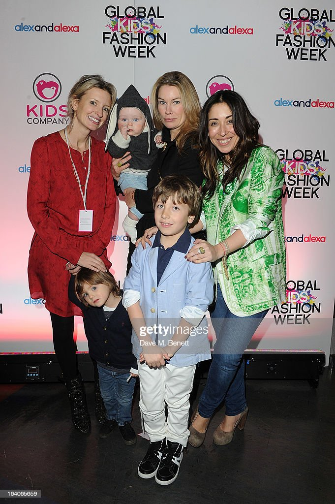 Lainey Sheridan Young, Pippa Vosper, Sarah Curran arrives for the Global Kids Fashion Week AW13 media and VIP show at The Freemason's Hall on March 19, 2013 in London, England.