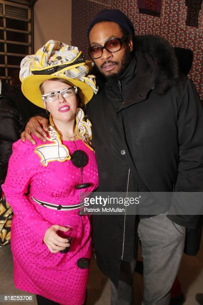 Lainie Balby and Ray Bangs attend KEHINDE WILEY PUMA and DEITCH PROJECTS Presents 'Legends of Unity' at Deitch Projects on February 17 2010 in New...