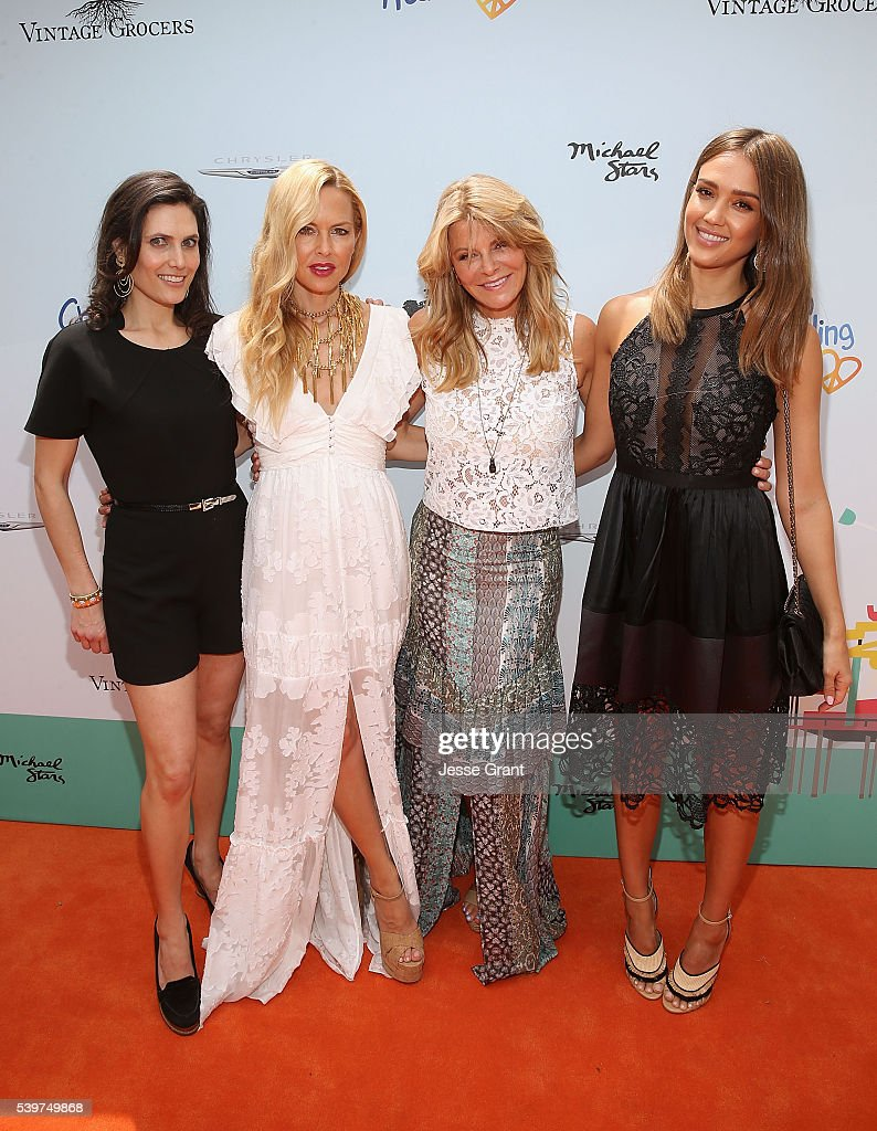 Lainie Strouse Rachel Zoe Lysa Heslov and Jessica Alba attend the Children Mending Hearts and Vintage Grocers Presents the 8th Annual 'Empathy Rocks'...