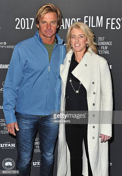 Laird Hamilton and Director Rory Kennedy attend the 'TAKE EVERY WAVE The Life Of Laird Hamilton' Premiere on day 4 of the 2017 Sundance Film Festival...