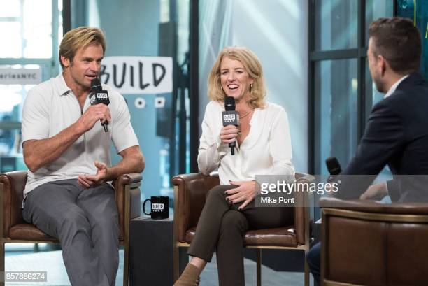 Laird Hamilton and Rory Kennedy visit Build Series to discuss 'Take Every Wave The Life Of Laird Hamilton' at Build Studio on October 5 2017 in New...