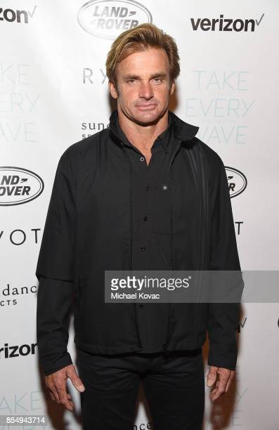 Laird Hamilton attends the Los Angeles premiere of 'Take Every Wave The Life of Laird Hamilton' sponsored by Land Rover Verizon and RYOT on September...