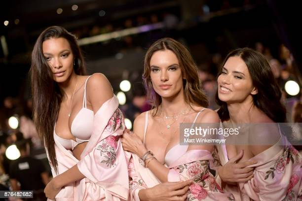 Lais Ribeiro Alessandra Ambrosio and Adriana Lima during 2017 Victoria's Secret Fashion Show In Shanghai at MercedesBenz Arena on November 20 2017 in...