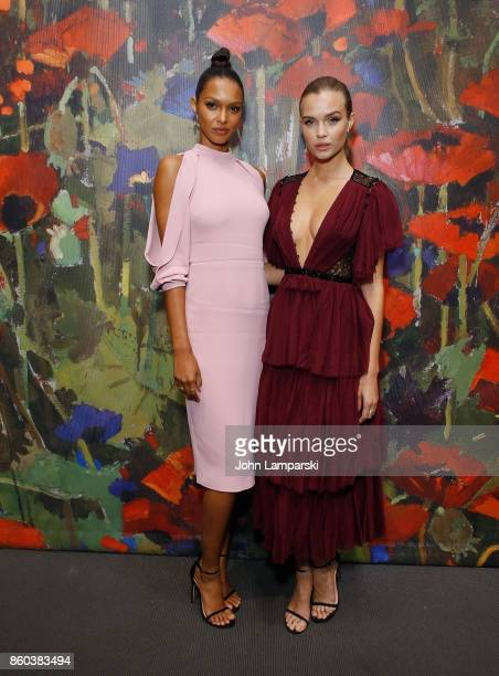 Lais Ribeiro and Josephine Skriver attends the 2017 Take Home A Nude Art Party and auction at Sotheby's on October 11 2017 in New York City