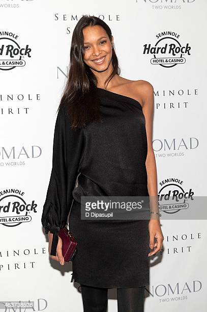 Lais Ribeiro attends the'Seminole Spirit' Art Exhibition Party at Stephen Weiss Studio on February 17 2015 in New York City