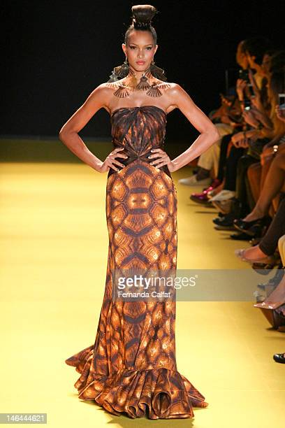 Lais Ribeiro walks the runway during Andre Lima show Sao Paulo Fashion Week Spring/Summer 2013 Collections on June 16 2012 in Sao Paulo Brazil