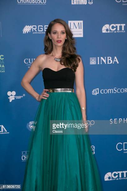 Laisha Wilkins poses during during the 59th Ariel Awards Red Carpet at Palacio de Bellas Artes on July 11 2017 in Mexico City Mexico
