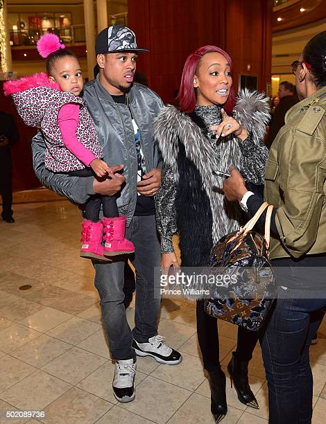 Laiyah Brown Shannon Brown and Monica attend an in store Signing for Monicas new album 'Code Red' at the Julian Scott boutique inside Phipps Plaza on...
