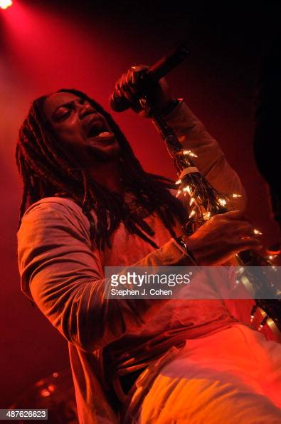 Lajon Witherspoon of Sevendust performs at the Mercury Ballroom on April 30 2014 in Louisville Kentucky