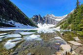 Lake Agnes with Reflection, Banff National Park, Alberta, Canada