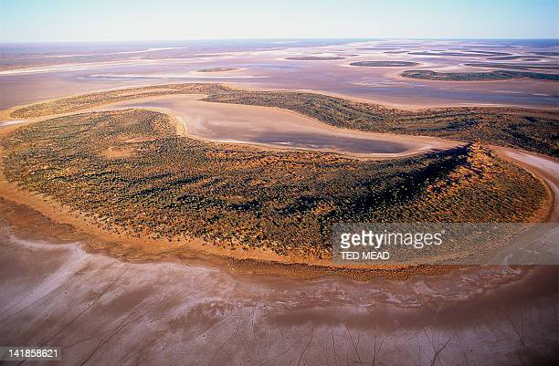 Lake Amadeus. A large and shallow salt lake in Central Australia.