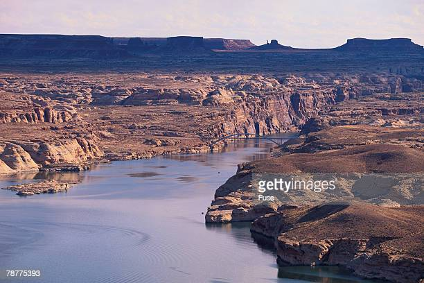 Lake Among Desert Landforms