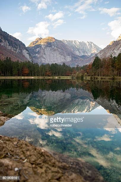 Lake and mountain range, Golling, Salzburg, Austria