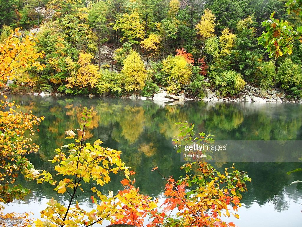 Lake at Mohonk Mountain House : Stock Photo
