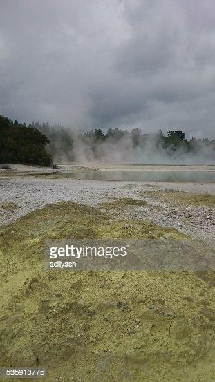 Lake at Wai-O-Tapu : Stock Photo