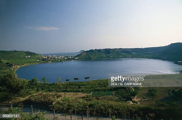 Lake Avernus near Pozzuoli Campania Italy