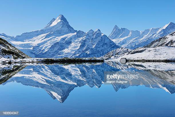 Lake Bachalpsee with mountains.