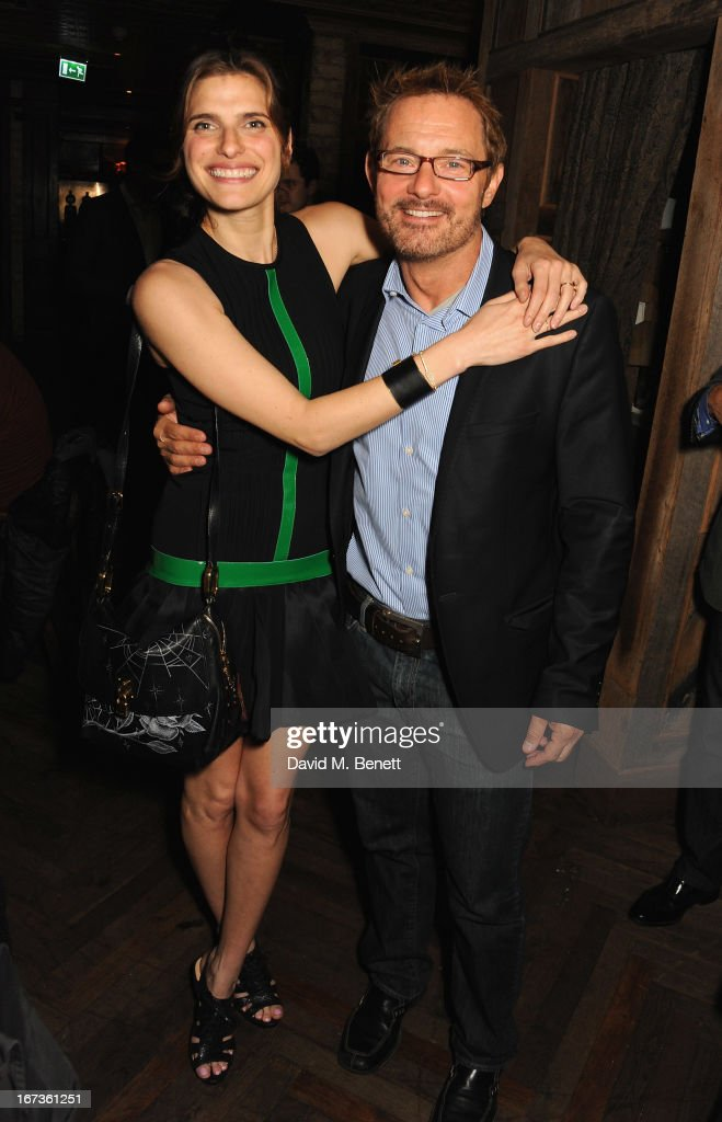 <a gi-track='captionPersonalityLinkClicked' href=/galleries/search?phrase=Lake+Bell&family=editorial&specificpeople=209336 ng-click='$event.stopPropagation()'>Lake Bell</a> and David Louvier attend Grey Goose hosted Sundance London Filmmaker Dinner at Little House on April 24, 2013 in London, England.