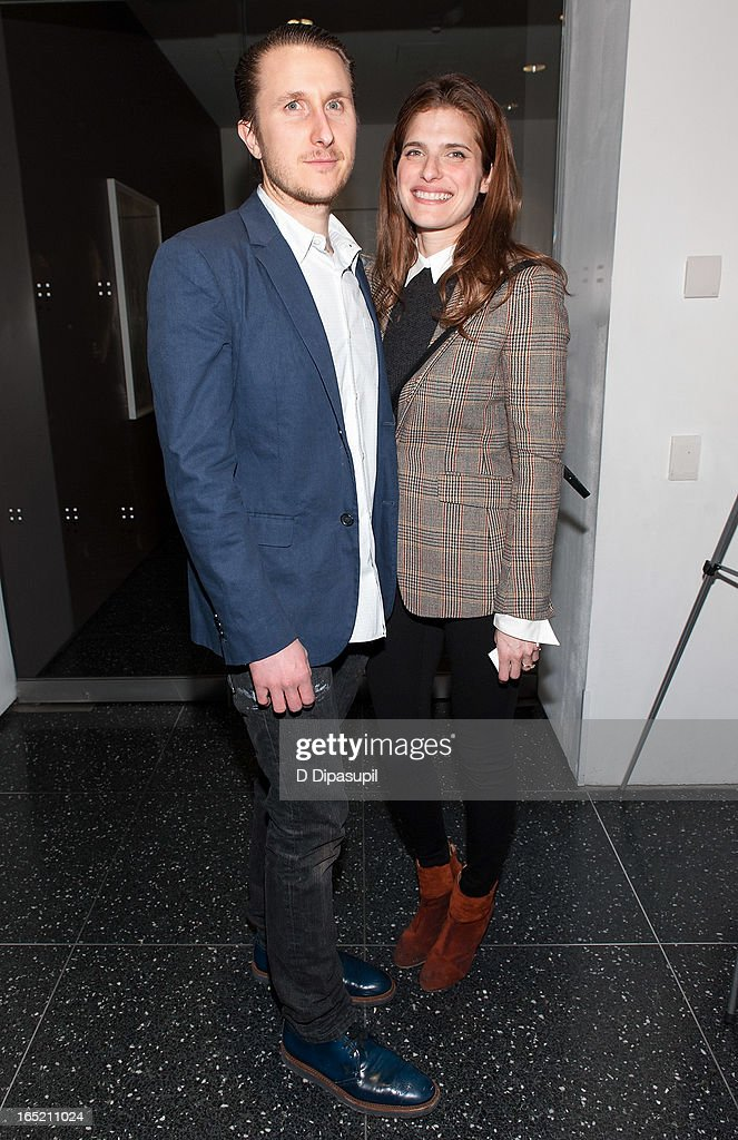 Lake Bell (R) and Scott Campbell attend 'The Company You Keep' New York Premiere at The Museum of Modern Art on April 1, 2013 in New York City.