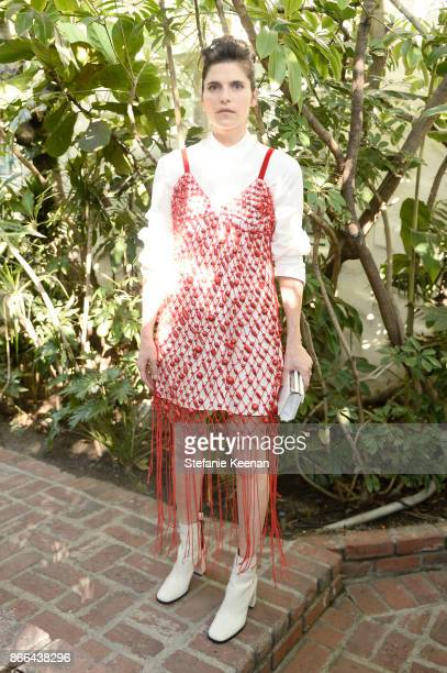 Lake Bell attends CFDA/Vogue Fashion Fund Show and Tea at Chateau Marmont at Chateau Marmont on October 25 2017 in Los Angeles California