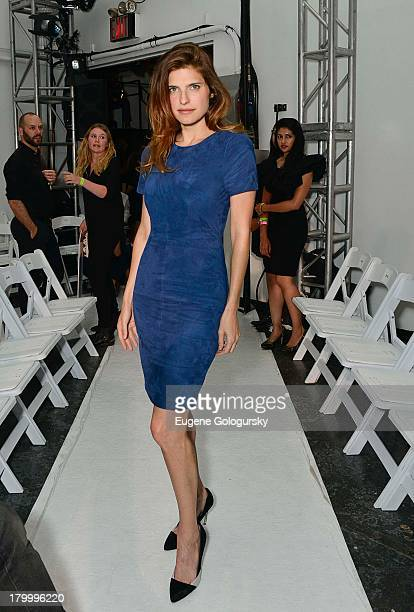 Lake Bell attends the Altuzarra show during Spring 2014 MercedesBenz Fashion Week at Industria Superstudio on September 7 2013 in New York City