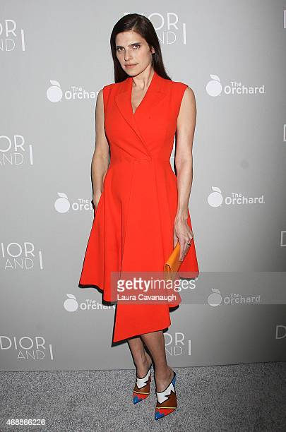 Lake Bell attends 'The Orchard's DIOR I' New York Screening at Paris Theater on April 7 2015 in New York City