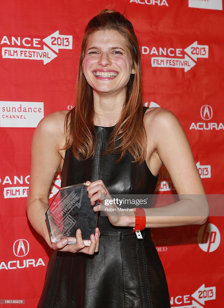 Lake Bell winner of the Waldo Salt Screenwriting Award: U.S. Dramatic for In A World poses with award at the Awards Night Ceremony during the 2013 Sundance Film Festival at Basin Recreation Field House on January 26, 2013 in Park City, Utah.