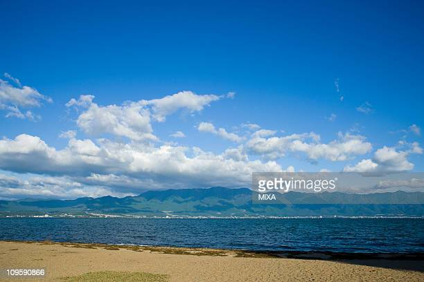 Lake Biwa and Mount Hira, Otsu, Shiga, Japan