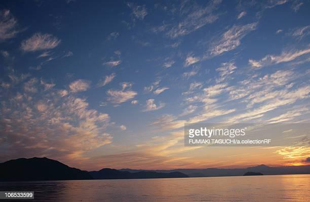 Lake Biwa at dawn, Shiga Prefecture, Honshu, Japan