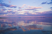 Lake Biwa at sunset, Otsu, Shiga Prefecture, Japan